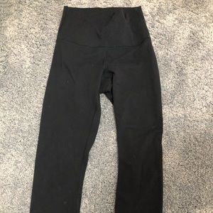 Navy Lululemon Crop Leggings